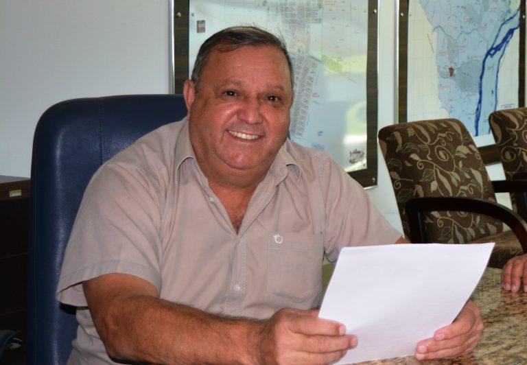Prefeito de Itaquiraí Ricardo Fávaro Neto, comemora resultado positivo de geração de empregos em Itaquiraí. Foto: Roney Minella